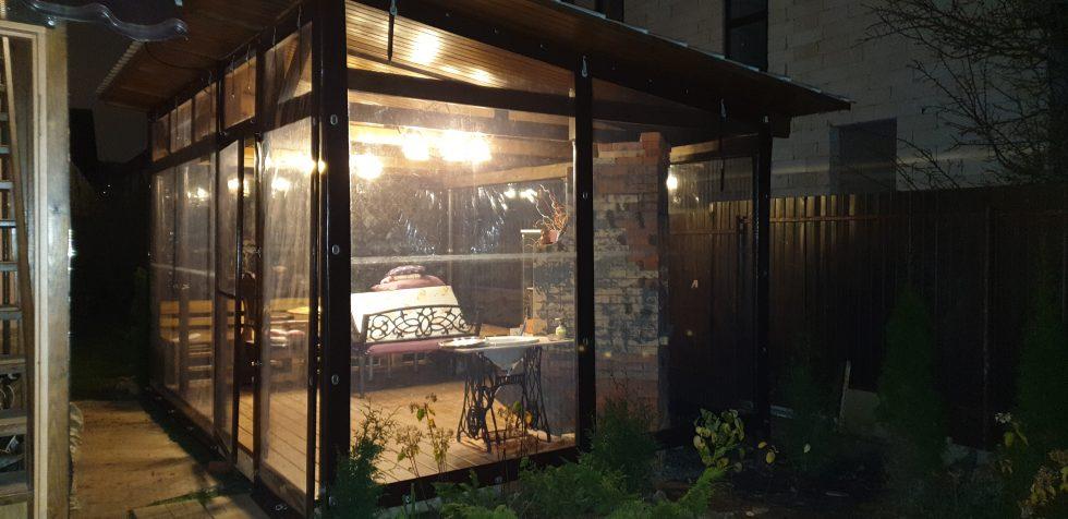 мягкие окна для веранд и беседок